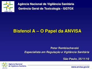 Bisfenol A – O Papel da ANVISA