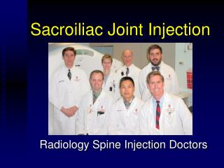 Sacroiliac Joint Injection