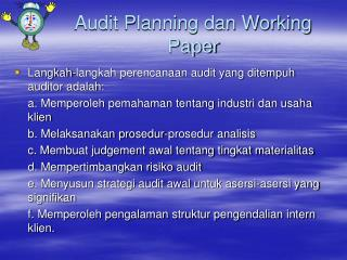 Audit Planning dan Working Paper