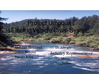 Project Umpqua  Electric Vehicle Drive System
