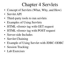 Chapter 4 Servlets