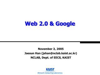 Web 2.0 & Google