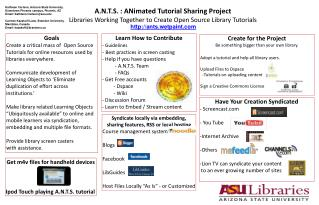 A.N.T.S. : ANimated Tutorial Sharing Project