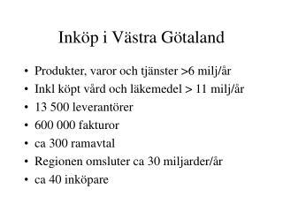 Inköp i Västra Götaland