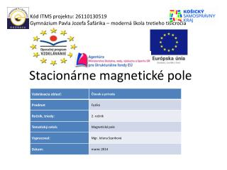 Stacion�rne magnetick� pole