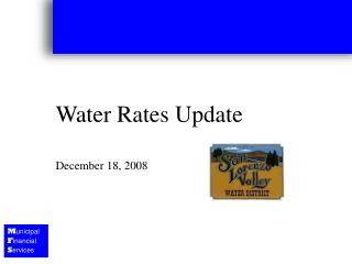 Water Rates Update December 18, 2008