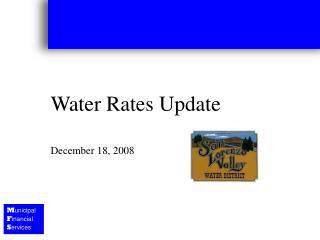Water Rates Update December 18, 2008
