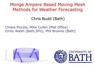 Monge Ampere Based Moving Mesh Methods for Weather Forecasting Chris Budd (Bath)