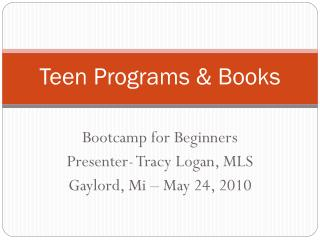Teen Programs & Books
