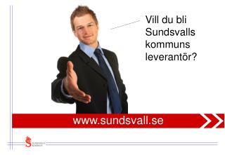Vill du bli  Sundsvalls kommuns leverantör?