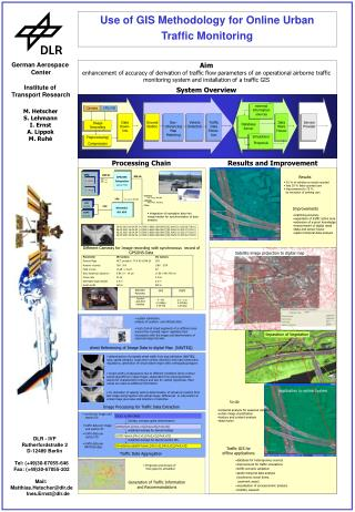 Use of GIS Methodology for Online Urban  Traffic Monitoring