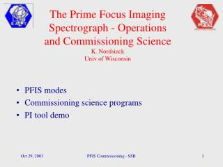 PFIS modes Commissioning science programs PI tool demo