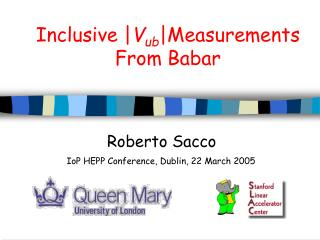 Inclusive | V ub |Measurements  From Babar