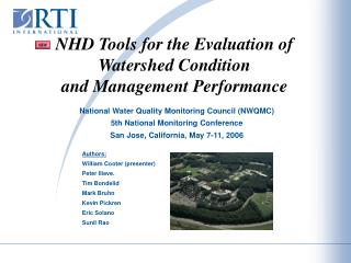 NHD Tools for the Evaluation of Watershed Condition  and Management Performance