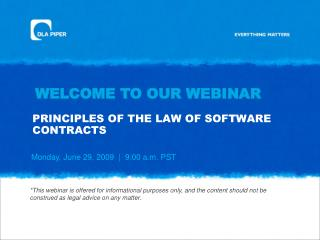 PRINCIPLES OF THE LAW OF SOFTWARE CONTRACTS