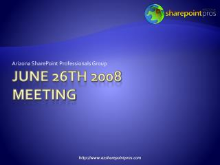 June 26th 2008 meeting