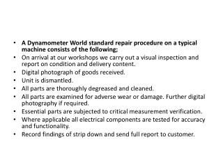 Find Best Dynamometer repair services