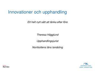 Innovationer och upphandling