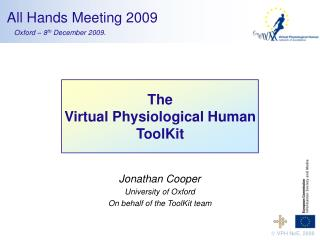 The Virtual Physiological Human ToolKit