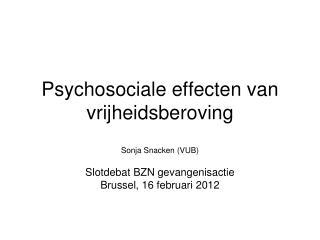 Psychosociale effecten van vrijheidsberoving