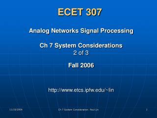 ECET 307