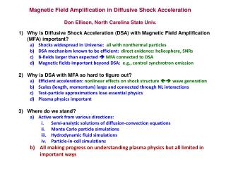 Magnetic Field Amplification in Diffusive Shock Acceleration