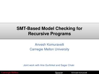 SMT-Based Model Checking for Recursive Programs