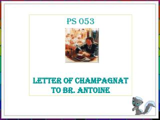 PS 053 Letter of Champagnat  to Br. Antoine