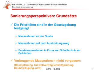 Sanierungsperspektiven: Grundsätze Die Prioritäten sind in der Gesetzgebung festgelegt