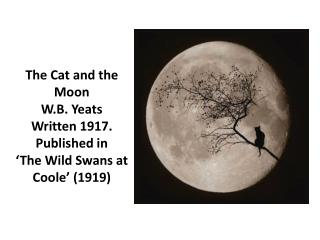 The Cat and the Moon W.B. Yeats Written 1917. Published in 'The Wild Swans at  Coole ' (1919)