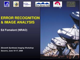 ERROR RECOGNITION & IMAGE ANALYSIS