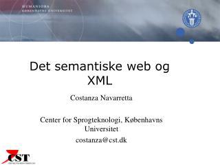 Det semantiske web og XML