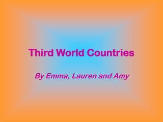 Third World Countries