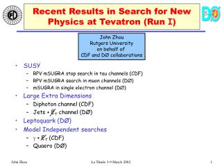 Recent Results in Search for New Physics at Tevatron (Run  I )