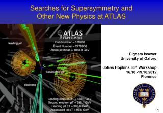 Searches for Supersymmetry and  Other New Physics at ATLAS