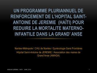 Nantes-Métropole /  CHU de Nantes /  Gynécologie Sans Frontières