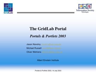 The GridLab Portal