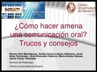 ¿Cómo hacer amena una comunicación oral? Trucos y consejos