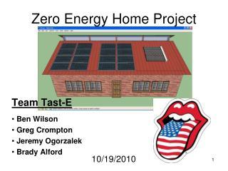 Zero Energy Home Project