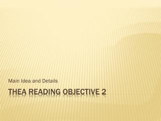 THEA Reading Objective 2