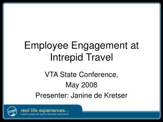 Employee Engagement at Intrepid Travel