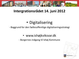 Intergrationsrådet 14. juni 2012