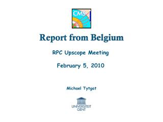 Report from Belgium