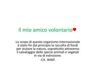 Il mio amico volontario ♥