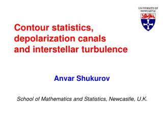 Contour statistics, depolarization canals and interstellar turbulence