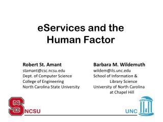 eServices and the  Human Factor