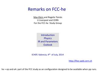 Remarks on FCC -he