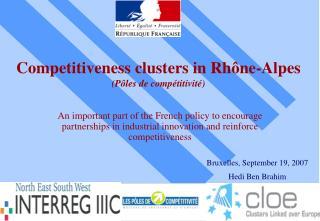 Competitiveness clusters in Rhône-Alpes (Pôles de compétitivité)