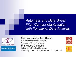 Automatic and Data Driven Pitch Contour Manipulation with Functional Data Analysis