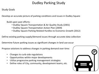 Dudley Parking Study